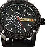 Luxury New Curren Army Black Stainless Steel Date Sports Quartz Mens Wrist Watch