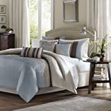 Tradewinds 6 Piece Duvet Set in Blue Size: Full / Queen