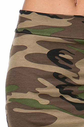 Sassy Apparel Women's Military Camo Pattern Below Knee Fashion Pencil Skirt