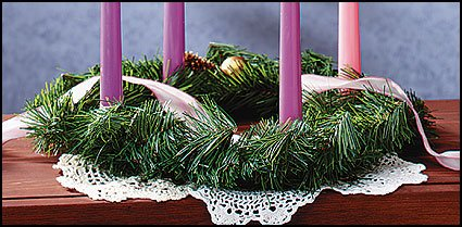 Christmas Season Evergreen Advent Wreath Four 4 Candle Holder Church Home Decoration Accessory