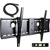 "VideoSecu Tilt TV Wall Mount for Most 32""-60"" LCD LED Plasma TV Flat Screen, Sturdy Steel Wall Plate Free HDMI Cable and 6"" Bubble Level M43"