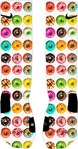 Donuts Nike Elite Socks (XL 12-15) (Customized Nike Elites compare prices)