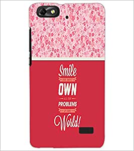 Printdhaba Quote D-3292 Back Case Cover For Huawei Honor 4C