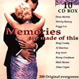 echange, troc MEMORIES ARE MADE OF THIS - VARIOUS CD EUROPEAN DISKY 1999 200 TRACK 10CD COMPILATION BOX SET FEATURING DEAN MARTIN, SHIRLEY BASSEY, PEGGY LEE AND MANY MOR