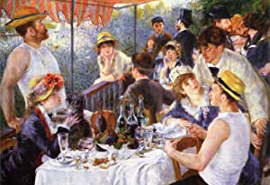 Luncheon of the Boating Party Poster by Pierre-Auguste Renoir, French Impressionism Painting