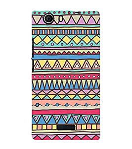 Abstract Art Pattern 3D Hard Polycarbonate Designer Back Case Cover for Micromax Canvas Nitro 2 E311 :: Micromax Canvas Nitro 2 (2nd Gen)