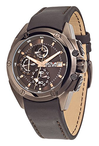 Sector No Limits 950 Men's Quartz Watch with Brown Dial Analogue Display and Brown Stainless Steel Strap R3271981001