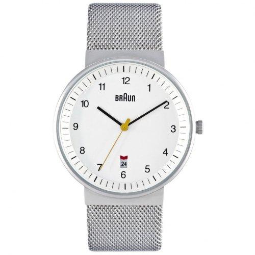 Braun BN-32WHS Men's Stainless Mesh Watch
