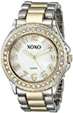 XOXO Women's XO5474 Rhinestone Accent Two-Tone Analog Bracelet Watch