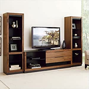 Martin Furniture Stratus 70 Television Entertainment Console Set In Walnut Kitchen