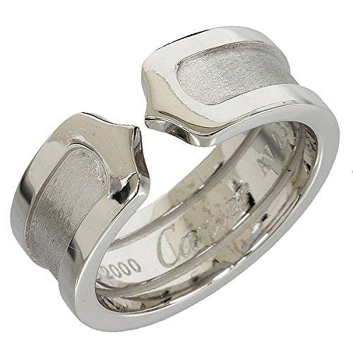 (カルティエ)Cartier 2C リング 7号(47) K18WG 7.0g 箱ギャラ 中古