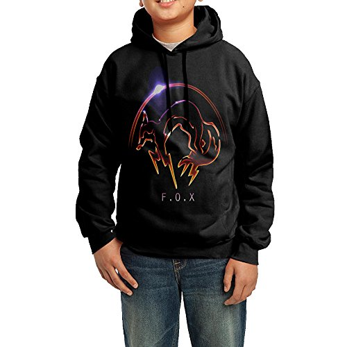 [BHGT Youth Boys/Girls Hoodies Metal Gear Solid Fox Logo Black Size M] (Crazy One Direction Fan Costume)