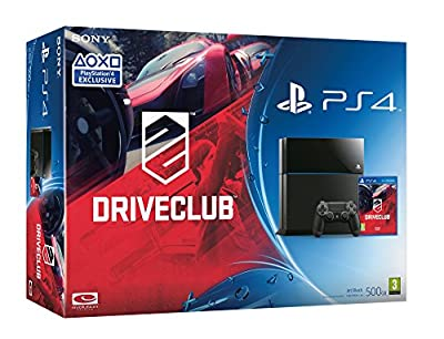 Sony PlayStation 4 Console [Black] with Driveclub Play Station4 (PS4) from Sony