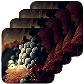 Black Grapes | ShopTwiz Printed Coffee Coasters (Set Of 4)