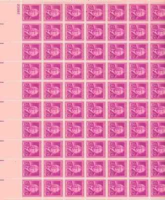 Harlan F. Stone Sheet of 70 x 3 Cent US Postage Stamps NEW Scot 965