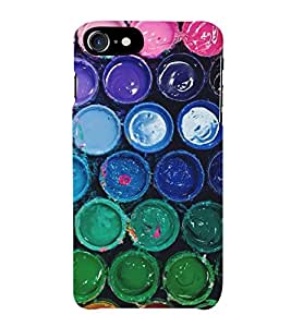 HiFi Designer Phone Back Case Cover Apple iPhone 7 :: Apple iPhone7 ( Paint Box Daba Colorful Pattern Design )
