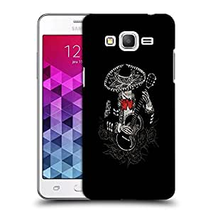 Snoogg Skeleton Playing Guitar Designer Protective Back Case Cover For Samsung Grand Prime G5306W