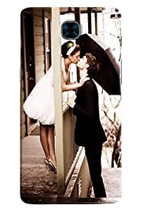 Omnam Boy And Girl Kissing Each Other Printed Designer Back Cover Case For OnePlus Three