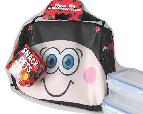 fun-young-fold-out-lunch-carry-insulated-easy-clean-bag-cherry-the-ladybird-with-built-in-gel-freeze