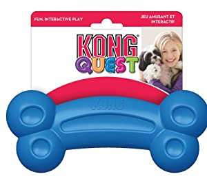 KONG Quest Bone Treat Dispensing Dog Toy, Large, Colors Vary
