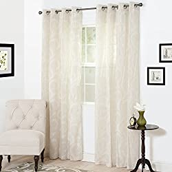 Bedford Home Andrea Embroidered Curtain Panel, 84