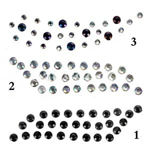 Irismaru 1 pair temporary eye rock crystal for Crystal eye tattoos
