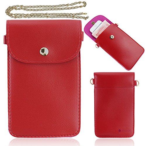 Ancerson Neu Einfach Stilvolle Damen-Stil Magnetverschluss Brieftasche Geldbörse Wallet Kreditkarte ID Karte Slots PU Leder Schutzhüllen Case Tasche Hülle Rucksack für Handy Smartphones Z.B Apple iPhone 6, Samsung Galaxy S4 I9500 / S5 I9600 / S3 I9300 /S4 Mini/S5 Mini /Core I8262 I8260/ Grand 2 / Note 2 N7100 /Note 3 N9000 N9002 N9005, LG G3 D855/ LG G2 / LG Optimus G Pro E980 F240 E986 F240k, Nokia Lumia 930, Sony Xperia L36h / L39h / Z1S / Z2 / Z3/ M2 /T3, HTC One M7/ M8 / HTC Desire 816, Huaw