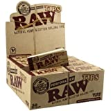 RAW Rolling Paper PERFORATED Tips (10 booklets of 50ct)