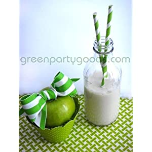 Paper Straws Pack of 144 Lime Green