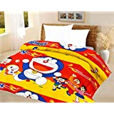 Lali Prints Kids Quilt Doraemon Red A.C Blanket Single Bed Size Dohar
