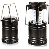 Camping Lantern, iRainy 30 LED Ultra Bright LED Lantern, Portable Camping Lantern - Light Weight & Collapsible-Water Resistant- Brightest & Most Compact Suitable for Hiking Camping Hiking, Fishing, Outdoor adventures, Emergencies, Hurricanes, Outages (Gery)