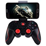 BONUSIS Black Wireless Bluetooth 3.0 Gamepad Gaming Controller Stretchable Special holder for iPhone Android Smartphone Tablet