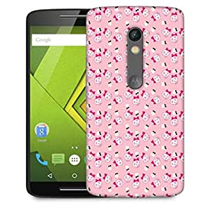 Snoogg Cute Aniskulls Designer Protective Phone Back Case Cover For Motorola Moto X Play