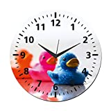 MeSleep Chick Wall Clock With Glass Top