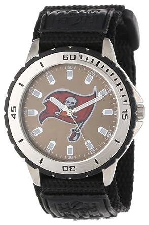 Game Time Mens NFL-VET-TB Veteran Custom Tampa Bay Buccaneers Veteran Series Watch by Game Time