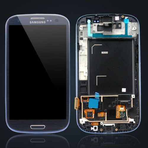 Oem Lcd Screen Touch With Digiziter Repair Parts With Frame For Samsung Galaxy S3 I9300 Blue