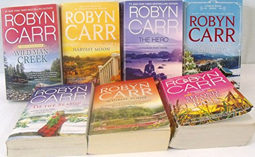 Author Robyn Carr Seven Book Bundle Collection, Includes: Harvest Moon - Wild Man Creek - 'Tis The Season - A Virgin River Christmas - Second Chance Pass - Sunrise Point - The Hero (Robyn Carr Tis The Season compare prices)