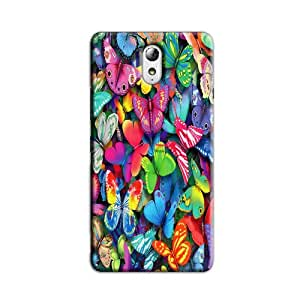 COLORFUL BUTTERFLIES BACK COVER FOR LENOVO VIBE P1M