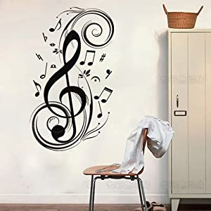 "Amazon.com: 23.6"" X 47.2"" Music notes wall decor Removable"