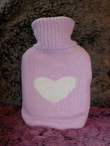 Gisela Graham Baby Pink Love Heart Hot Water Bottle