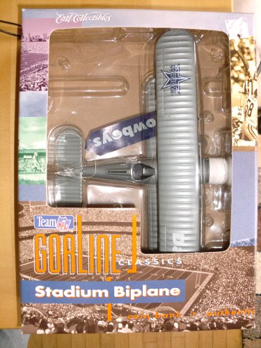 Ertl Collectibles NFL Team Goaline Classics Dallas Cowboys Stadium Biplane Coin Bank - 1