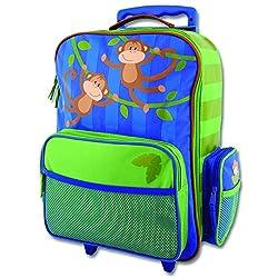 Stephen Joseph Little Girls' Rolling Luggage - Monkey