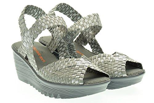 BM BERNIE MEV donna sandali con la zeppa FAME grigio 41 GRIGIO