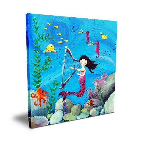 "Cici Art Factory 16""x 16"" Brunette Mermaid"