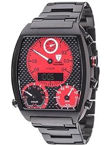 DETOMASO VOLTURNO DT2057-D- reloj hombre- negro- correa acero negra- nuevo