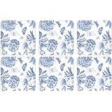 Portmeirion Botanic Blue Coasters, Set of 6