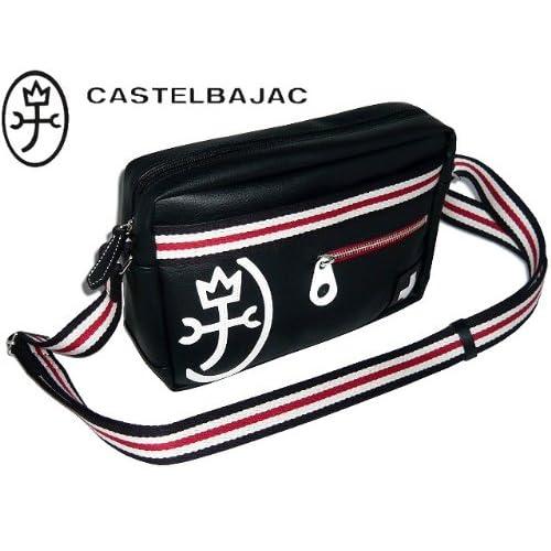 castelbajac カステルバジャック パンセ 横型ショルダーバッグ 黒(ブラック)クロ 59115