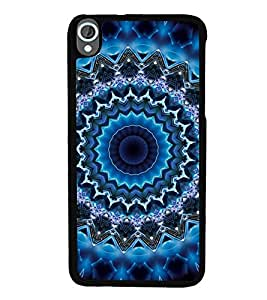 iFasho Animated Pattern design colorful flower in royal style Back Case Cover for HTC Desire 820