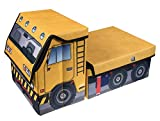 Kids Construction Crane Collapsible Toy Storage Organizer - Yellow and Black
