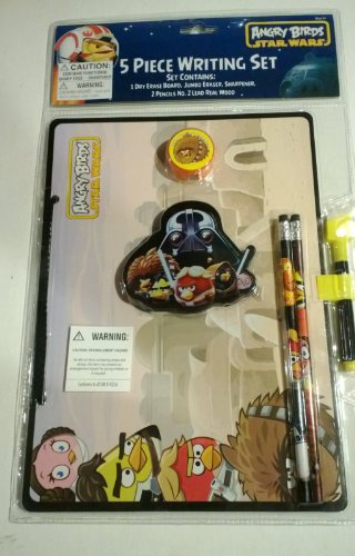 ANGRY BIRDS STAR WARS 5 PIECE WRITING SET